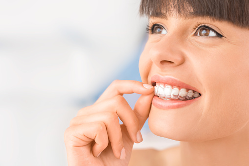 Clear Invisalign aligners at Lauren Becker DDS, PC
